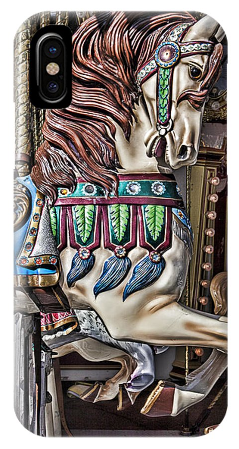 Wild Carrousel Horses IPhone X Case featuring the photograph Beautiful Carousel Horse by Garry Gay