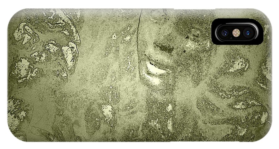 Beauty IPhone X Case featuring the photograph Beauty Cast In Stone by Kathy Clark