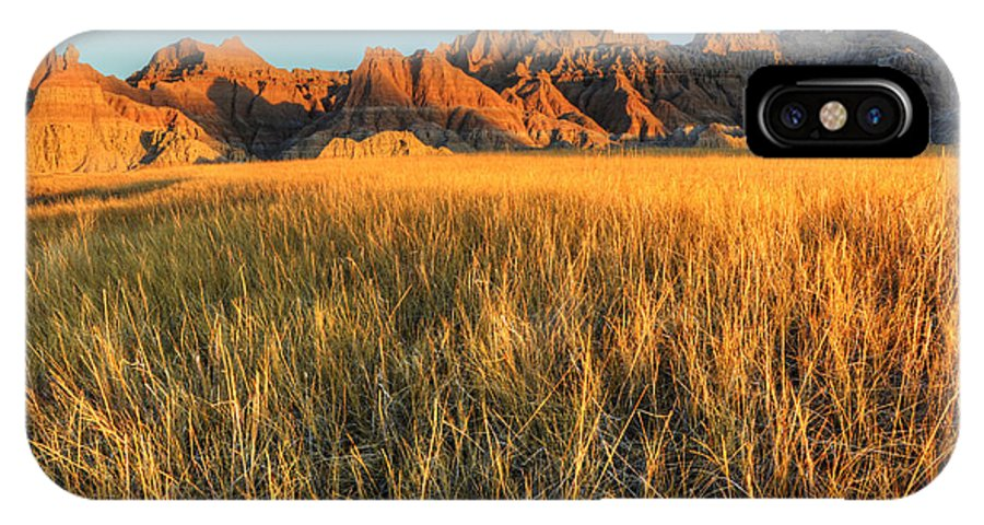 Badlands IPhone X Case featuring the photograph Beauty Of The Badlands by Bob Christopher