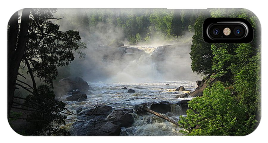 IPhone X Case featuring the photograph Beaver River In The Fog 2 by Joi Electa