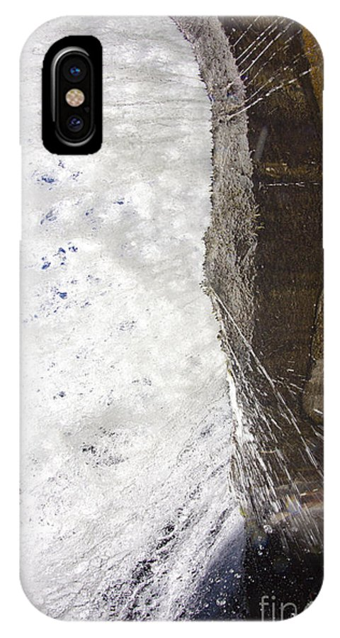 Bridal Veil Falls In Dupont State Park Nc IPhone X Case featuring the photograph Behind Bridal Veil Falls In Dupont State Park Nc by Dustin K Ryan