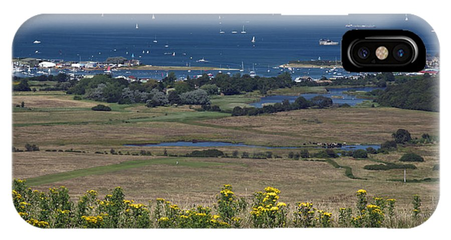 Britain IPhone X Case featuring the photograph Bembridge Harbour And The Solent by Rod Johnson