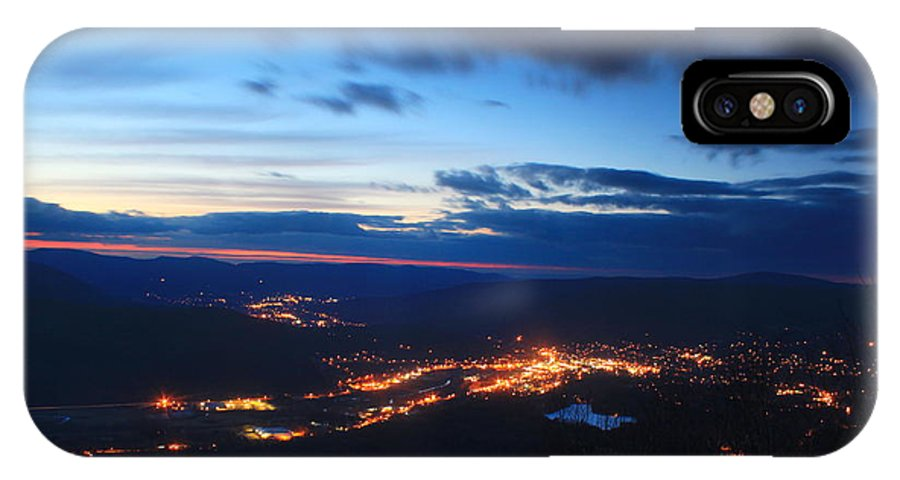 Berkshires IPhone X Case featuring the photograph Berkshire Evening From Spruce Hill Savoy Mountain by John Burk