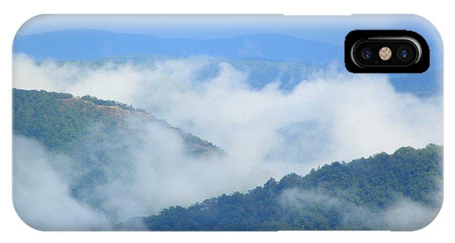 Fog IPhone X Case featuring the photograph Berkshire Mist Deerfield River Valley by John Burk
