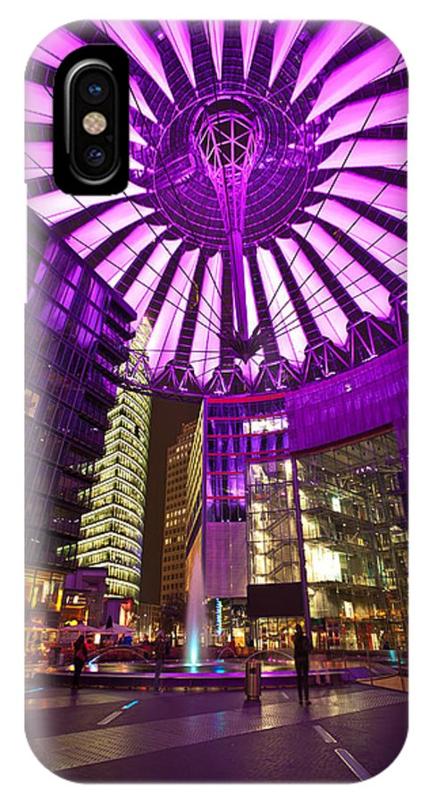 Berlin IPhone X Case featuring the photograph Berlin Sony Center by Mike Reid