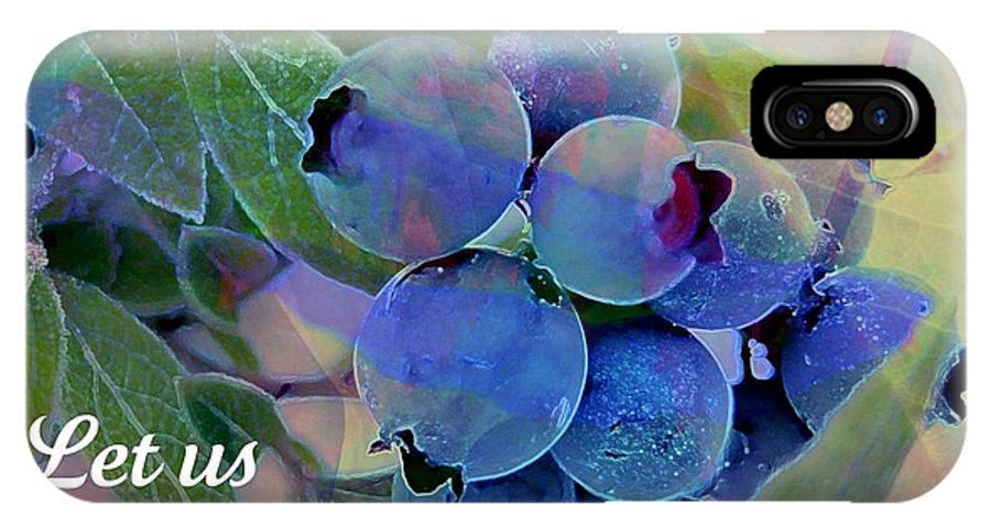 Thanksgiving Card IPhone X Case featuring the photograph Berry Beautiful by Shirley Sirois