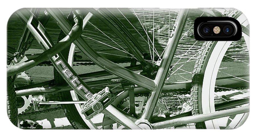 Bikes IPhone X Case featuring the photograph Bevy Of Beach Bikes by Lorraine Devon Wilke