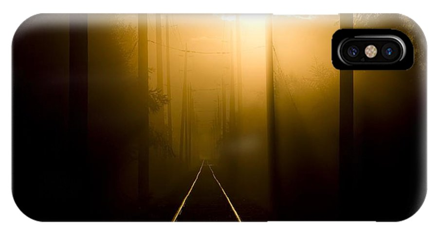 Fog IPhone X Case featuring the photograph Beyond The Fog by Martin Cooper