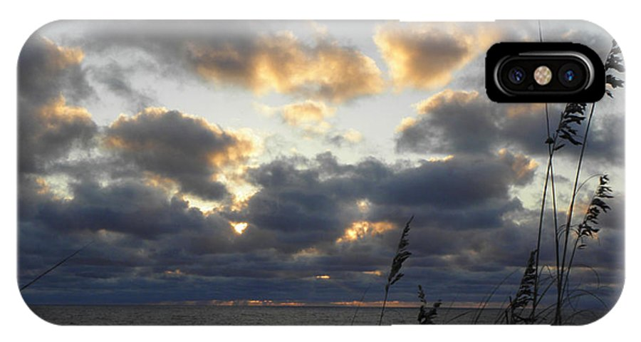 Sunrise IPhone X Case featuring the photograph Beyond The Seagrass by Kim Galluzzo Wozniak