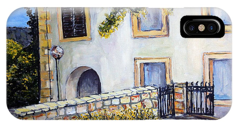 Landscape IPhone X Case featuring the painting Bidens by Pablo de Choros