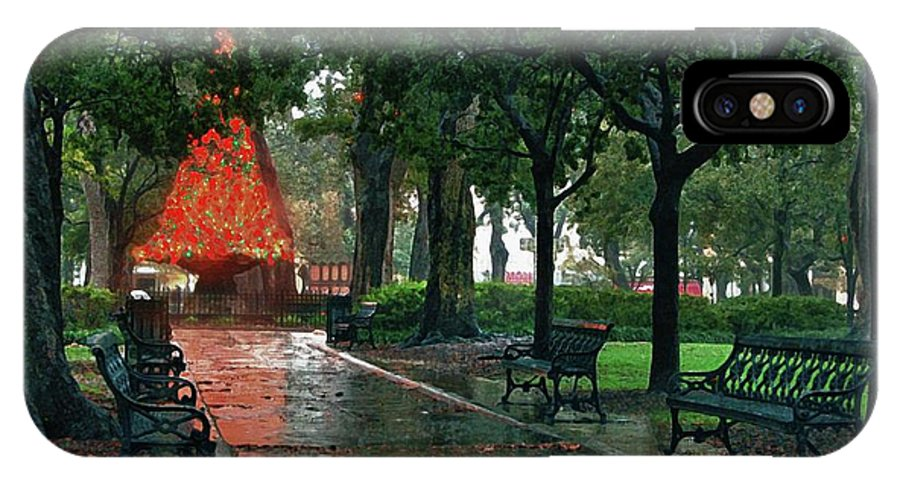 Alabama Photographer IPhone X Case featuring the digital art Bienville Square by Michael Thomas