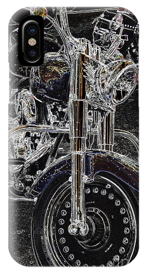 Motorcycle IPhone X Case featuring the photograph Big Willy Style by Anthony Wilkening