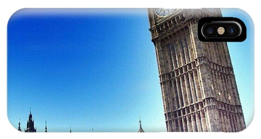 England IPhone X Case featuring the photograph #bigben #uk #england #london2012 by Abdelrahman Alawwad