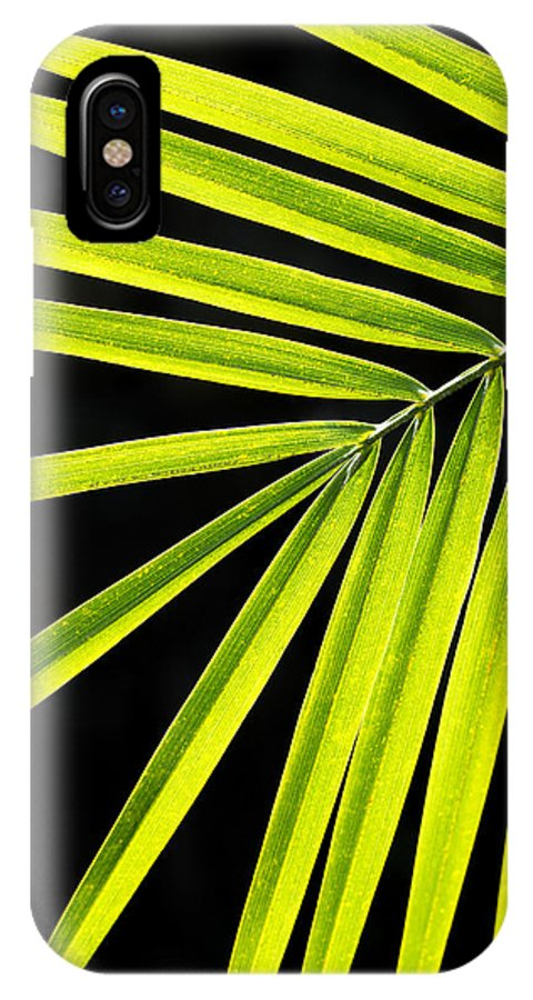 Beautiful IPhone X Case featuring the photograph Bight Green Tropical Plant by MakenaStockMedia - Printscapes
