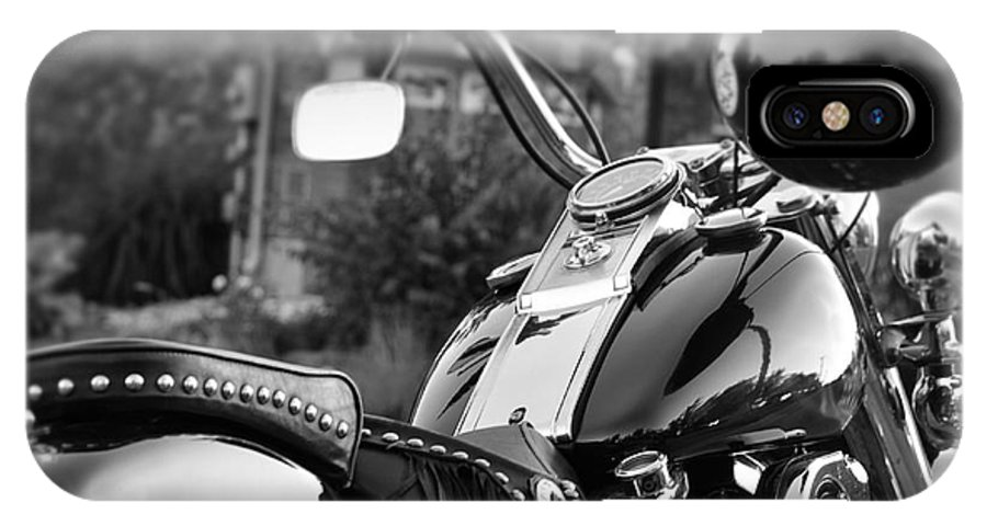 Motorcycle IPhone X / XS Case featuring the photograph Bike Me Too by Traci Cottingham
