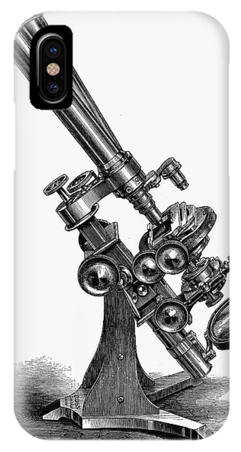 19th Century IPhone X Case featuring the photograph Binocular Microscope by Granger