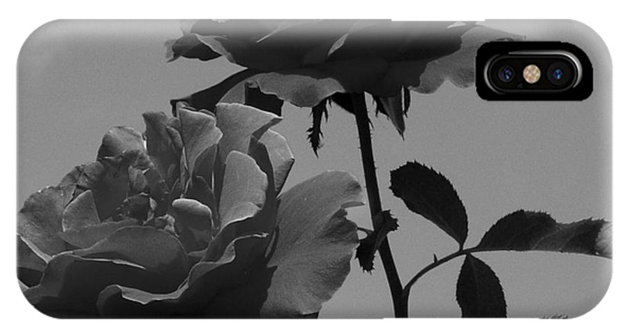 Flower IPhone X Case featuring the photograph Black And White Roses by Kevin Fortier