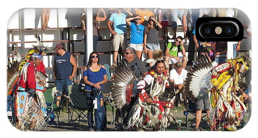 Pow Wow IPhone X Case featuring the photograph Blackfeet Pow Wow 01 by Ausra Huntington nee Paulauskaite