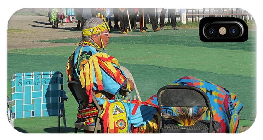 Pow Wow IPhone X Case featuring the photograph Blackfeet Pow Wow 02 by Ausra Huntington nee Paulauskaite