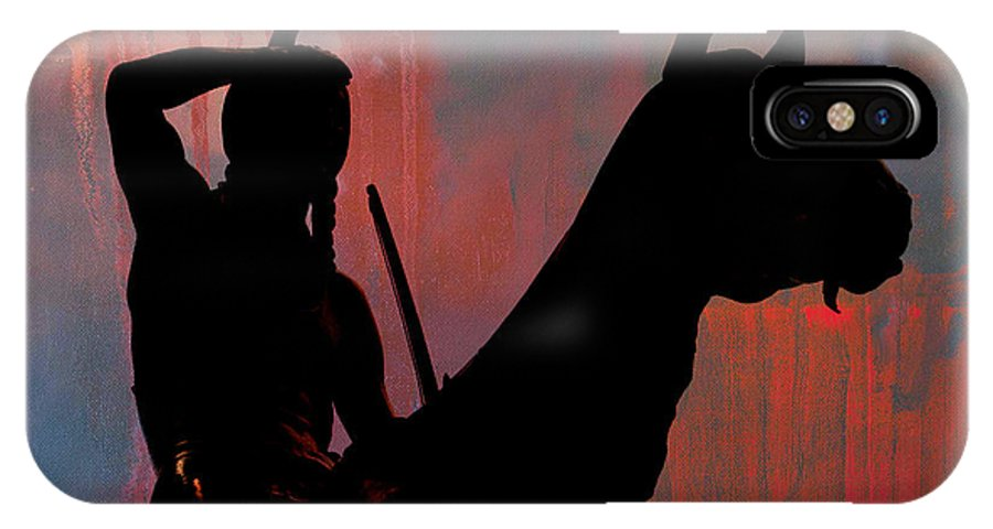Indian IPhone X Case featuring the photograph Bleeding Indian by Linda Jackson