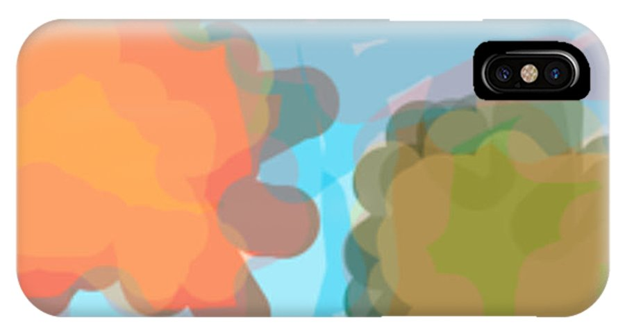 Blob IPhone X / XS Case featuring the painting Blobs Listen To The Shofar by Naomi Jacobs