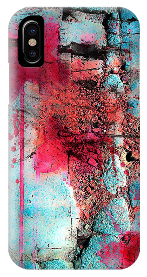 Abstract Artist IPhone X Case featuring the photograph Blood And Stones by The Artist Project