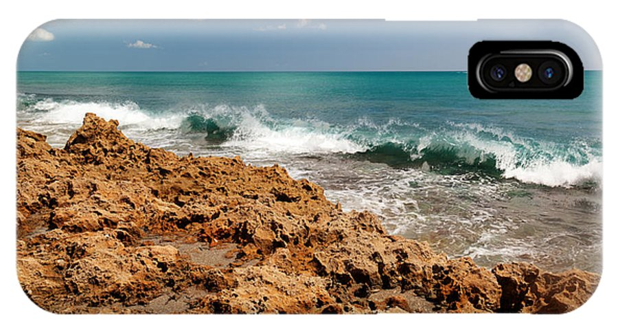 Blowing Rocks IPhone X Case featuring the photograph Blowing Rocks Jupiter Island Florida by Michelle Constantine