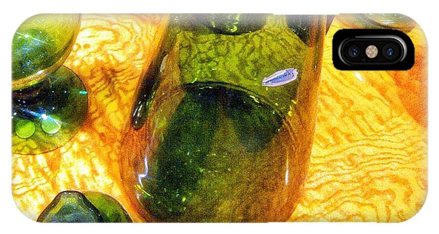 Glass Art IPhone X / XS Case featuring the digital art Blown by Olivier Calas