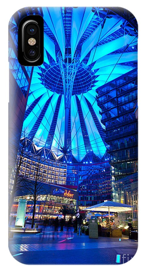 Sony Center IPhone X Case featuring the photograph Blue Berlin by Mike Reid