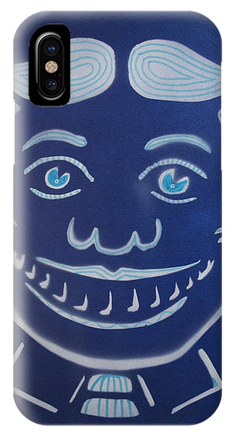 Tillie Of Asbury Park IPhone X Case featuring the painting Blue Dream Tillie by Patricia Arroyo