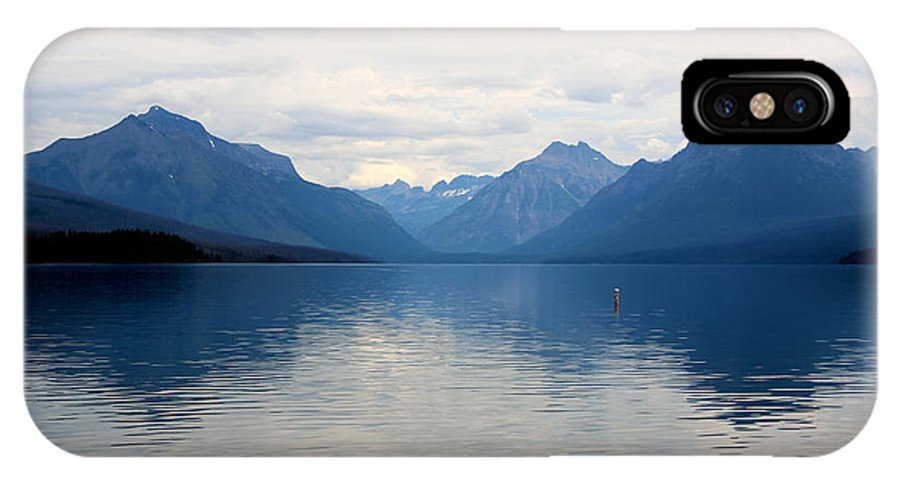 Lake Mcdonald IPhone X Case featuring the photograph Blue Lake Mcdonald by Carol Groenen