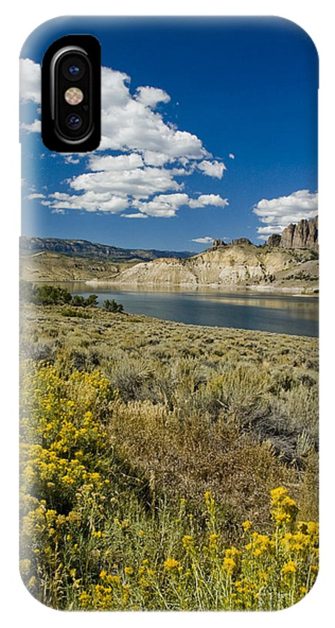 Blue Mesa IPhone X Case featuring the photograph Blue Mesa Reservoir - V by Tim Mulina