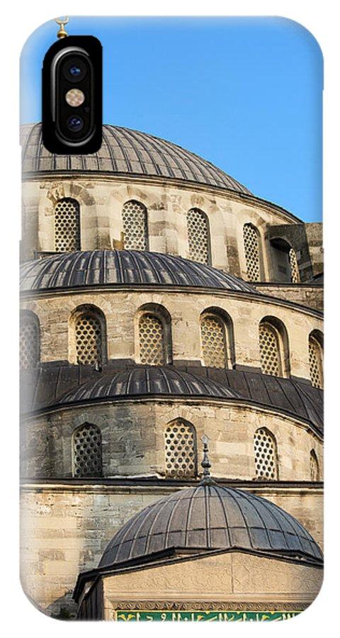 Blue IPhone X Case featuring the photograph Blue Mosque Domes by Artur Bogacki