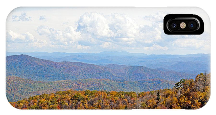 Nature IPhone X Case featuring the photograph Blue Ridge Mountains In Fall by Kenneth Albin