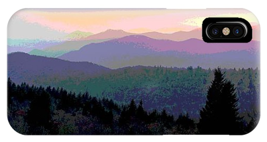 Sunset IPhone X Case featuring the photograph Blue Ridge Sunset by Cindy Manero