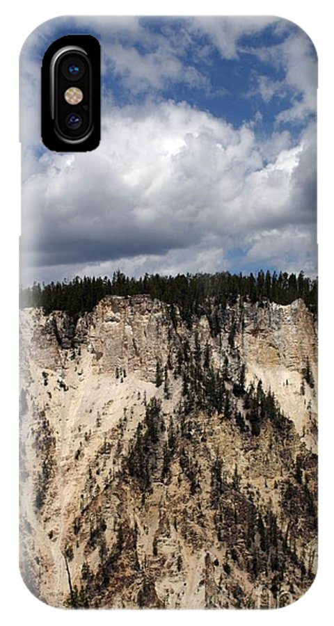 Grand Canyon IPhone X Case featuring the photograph Blue Skies And Grand Canyon In Yellowstone by Living Color Photography Lorraine Lynch