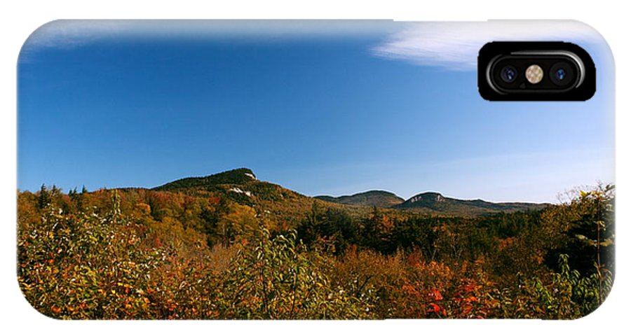 New Hampshire IPhone X / XS Case featuring the photograph Blue Sky And Thin Clouds by Amanda Kiplinger