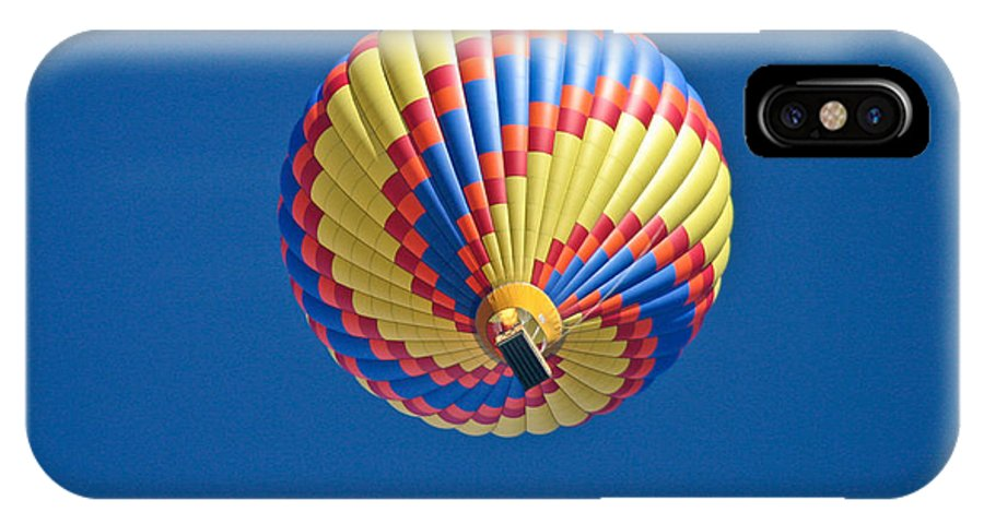 Hot Air Balloon IPhone X Case featuring the photograph Blue Sky Swirl by Mitch Shindelbower