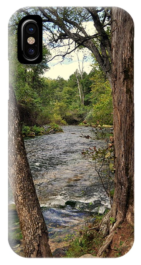 Stream IPhone X Case featuring the photograph Blue Spring Branch by Marty Koch