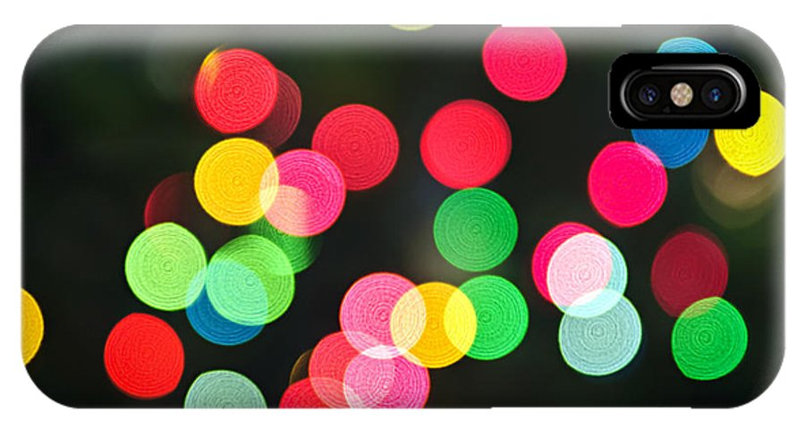Blurred IPhone X / XS Case featuring the photograph Blurred Christmas Lights by Elena Elisseeva