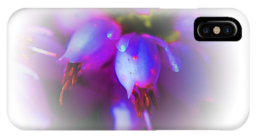 Flowers IPhone X Case featuring the photograph Blush by Marie Jamieson
