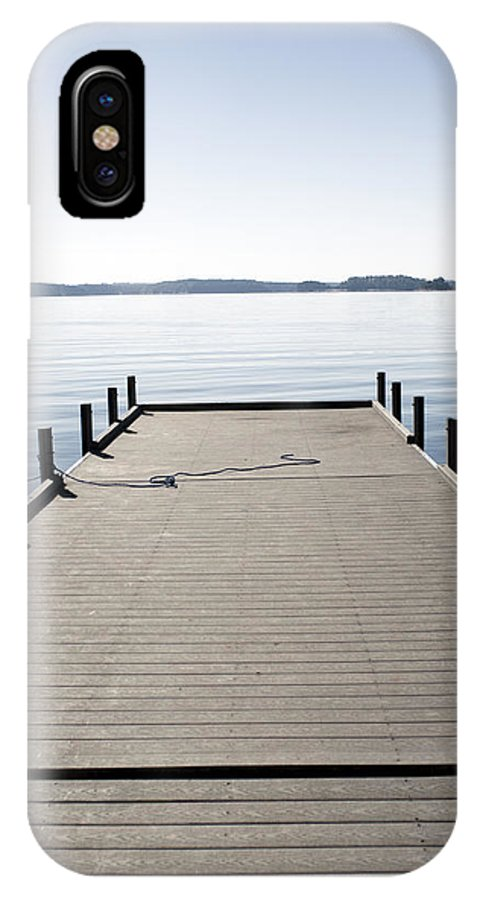 Boat Dock IPhone X Case featuring the photograph Boat Dock by Lisha Segur