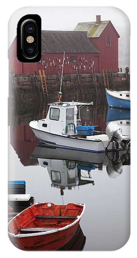 Angle IPhone X Case featuring the photograph Boats At Rockport Harbor by Jenna Szerlag