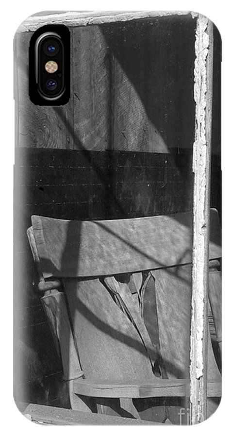 Sandra Bronstein IPhone X Case featuring the photograph Bodi Ghost Town Window by Sandra Bronstein