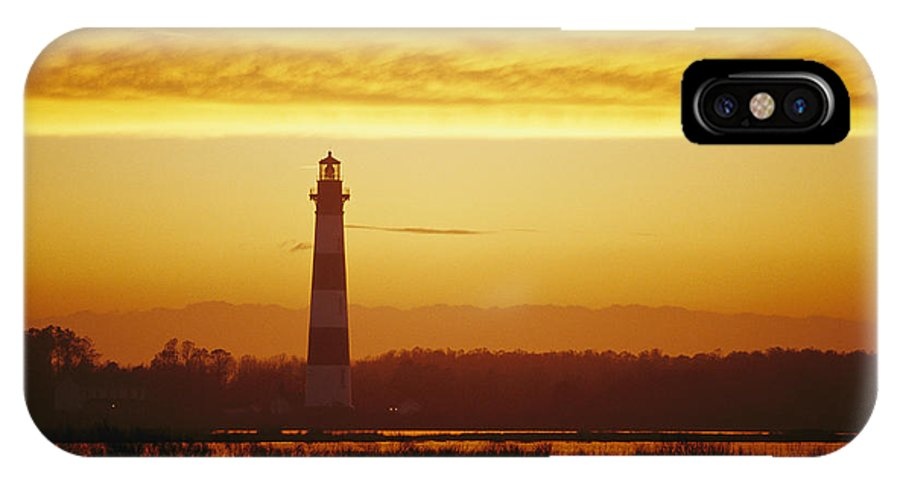 Structures IPhone X / XS Case featuring the photograph Bodie Island Lighthouse, Oregon Inlet by Skip Brown