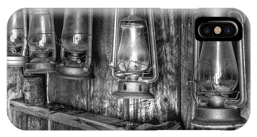 Bodie Historic State Park IPhone X Case featuring the photograph Bodie Lanterns by Scott McGuire