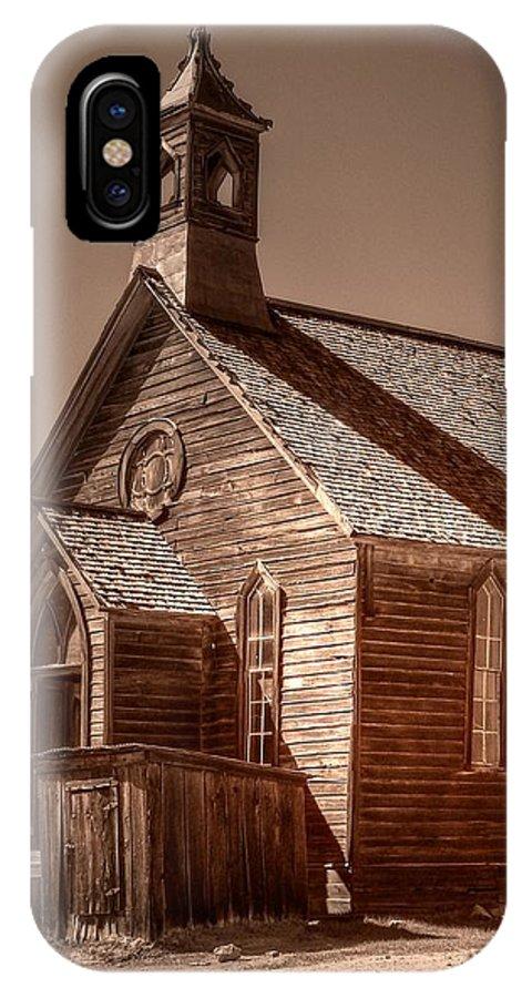 Bodie State Historic Park IPhone X Case featuring the photograph Bodie State Historic Park California Church by Scott McGuire