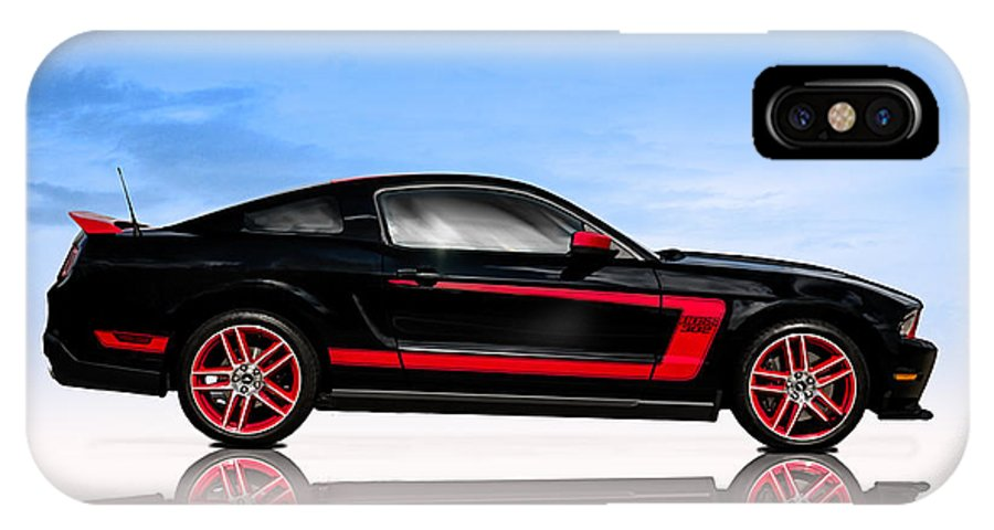 Ford IPhone X / XS Case featuring the digital art Boss Mustang by Douglas Pittman