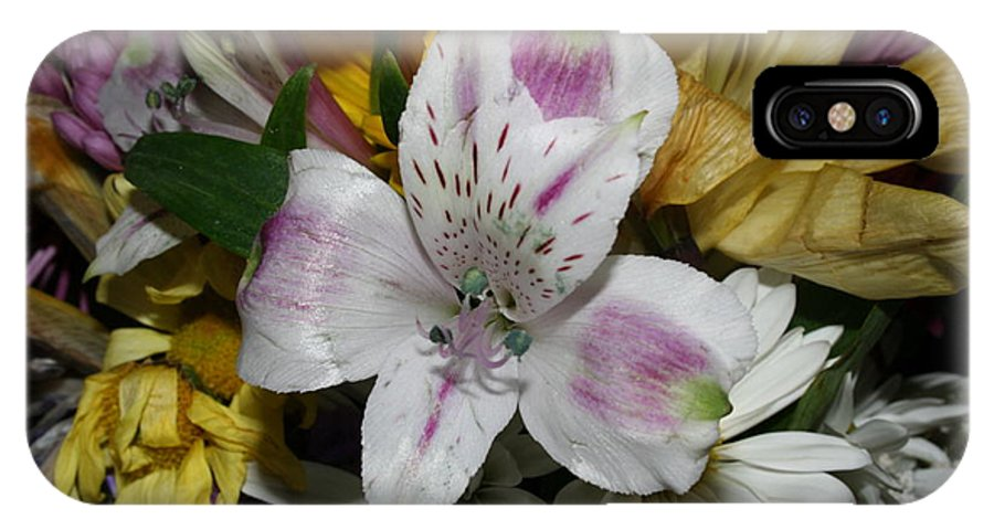Lily IPhone X Case featuring the photograph Bouquet Of Flowers by Michael Waters
