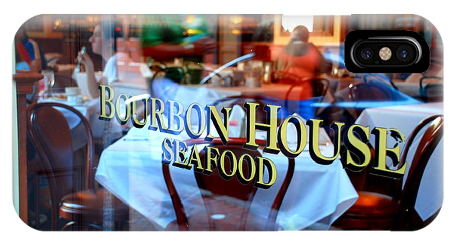 Bourbon House Seafood IPhone X Case featuring the photograph Bourbon House by Jennifer Kelly